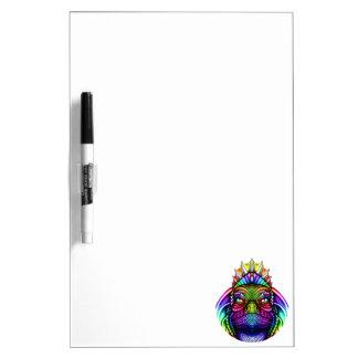 Rainbow Lizard King Wearing a Crown Trippy Dry Erase Board