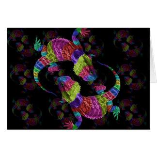 Rainbow lizards card