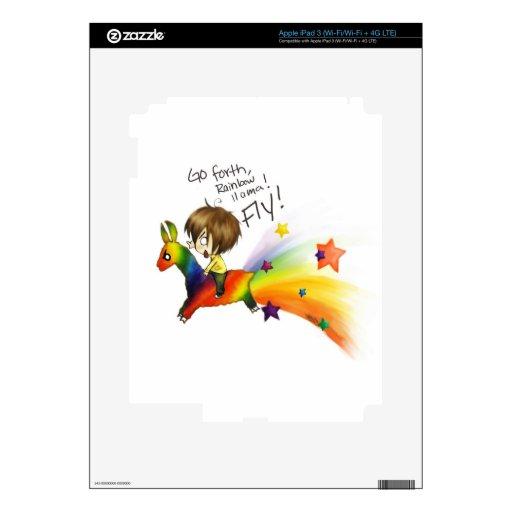 Rainbow Llama Decals For iPad 3