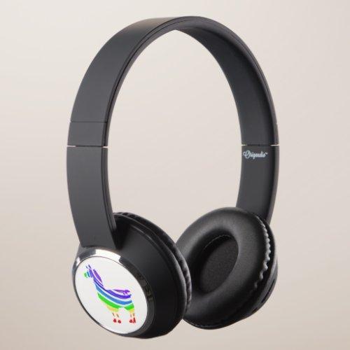 Rainbow Llama Headphones