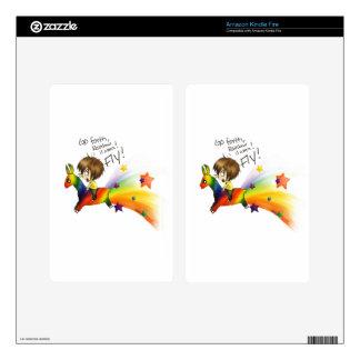 Rainbow Llama Kindle Fire Decal