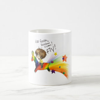 Rainbow Llama Classic White Coffee Mug