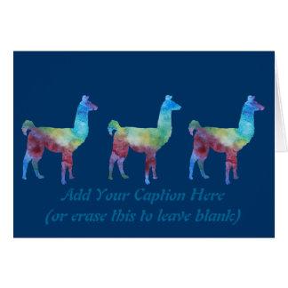 Rainbow Llamas Card