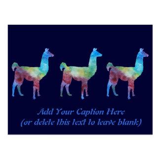 Rainbow Llamas Postcard