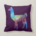 Rainbow Llamas Throw Pillows