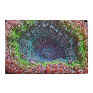 Rainbow lobophyllia coral travel accessory bag