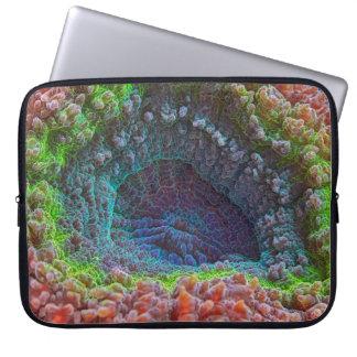 Rainbow lobophyllia pattern laptop computer sleeves