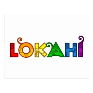 Rainbow Lokahi White Postcard