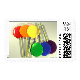Rainbow Lollies Postage