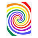 "Rainbow Lollipop 5"" X 7"" Invitation Card"