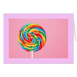 Rainbow Lollipop Card