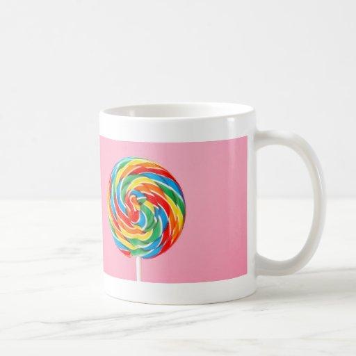 Rainbow Lollipop Classic White Coffee Mug