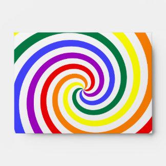 Rainbow Lollipop Envelope