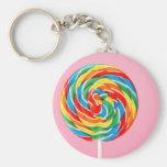 Rainbow Lollipop Key Chain