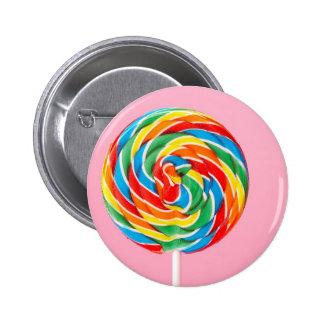 Rainbow Lollipop Pinback Button