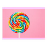 Rainbow Lollipop Postcard