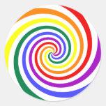 Rainbow Lollipop Stickers