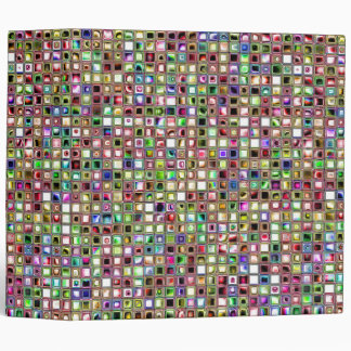 Rainbow 'Lollipop' Textured Mosaic Tiles Pattern Binder