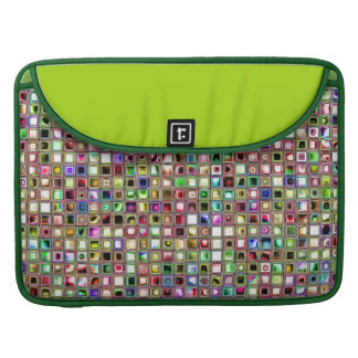 Rainbow 'Lollipop' Textured Mosaic Tiles Pattern Sleeve For MacBook Pro