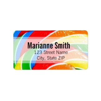 Rainbow Lolly Swirl Personalized Address Labels