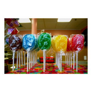 Rainbow Lollypops Posters