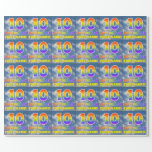 "[ Thumbnail: Rainbow Look ""10"" & ""Happy Birthday"", Clouds, Sky Wrapping Paper ]"