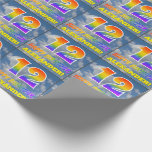 """[ Thumbnail: Rainbow Look """"12"""" & """"Happy Birthday"""", Clouds, Sky Wrapping Paper ]"""