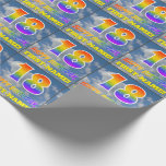 """[ Thumbnail: Rainbow Look """"18"""" & """"Happy Birthday"""", Clouds, Sky Wrapping Paper ]"""