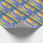 """[ Thumbnail: Rainbow Look """"31"""" & """"Happy Birthday"""", Clouds, Sky Wrapping Paper ]"""