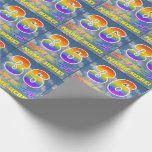 "[ Thumbnail: Rainbow Look ""36"" & ""Happy Birthday"", Clouds, Sky Wrapping Paper ]"