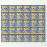 """[ Thumbnail: Rainbow Look """"41"""" & """"Happy Birthday"""", Clouds, Sky Wrapping Paper ]"""