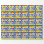 """[ Thumbnail: Rainbow Look """"46"""" & """"Happy Birthday"""", Clouds, Sky Wrapping Paper ]"""