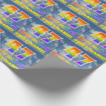 """[ Thumbnail: Rainbow Look """"47"""" & """"Happy Birthday"""", Clouds, Sky Wrapping Paper ]"""