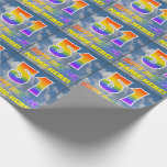 """[ Thumbnail: Rainbow Look """"51"""" & """"Happy Birthday"""", Clouds, Sky Wrapping Paper ]"""