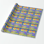 """[ Thumbnail: Rainbow Look """"53"""" & """"Happy Birthday"""", Clouds, Sky Wrapping Paper ]"""