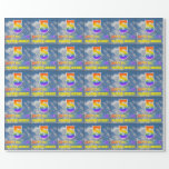 """[ Thumbnail: Rainbow Look """"5"""" & """"Happy Birthday"""", Clouds, Sky Wrapping Paper ]"""