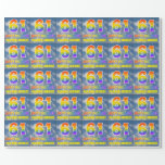 """[ Thumbnail: Rainbow Look """"61"""" & """"Happy Birthday"""", Clouds, Sky Wrapping Paper ]"""