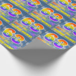 """[ Thumbnail: Rainbow Look """"63"""" & """"Happy Birthday"""", Clouds, Sky Wrapping Paper ]"""