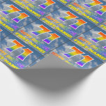 """[ Thumbnail: Rainbow Look """"71"""" & """"Happy Birthday"""", Clouds, Sky Wrapping Paper ]"""