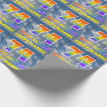 """[ Thumbnail: Rainbow Look """"74"""" & """"Happy Birthday"""", Clouds, Sky Wrapping Paper ]"""