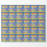 """[ Thumbnail: Rainbow Look """"77"""" & """"Happy Birthday"""", Clouds, Sky Wrapping Paper ]"""