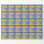 "[ Thumbnail: Rainbow Look ""79"" & ""Happy Birthday"", Clouds, Sky Wrapping Paper ]"