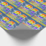 """[ Thumbnail: Rainbow Look """"84"""" & """"Happy Birthday"""", Clouds, Sky Wrapping Paper ]"""