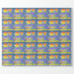 """[ Thumbnail: Rainbow Look """"87"""" & """"Happy Birthday"""", Clouds, Sky Wrapping Paper ]"""