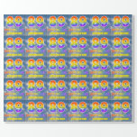 "[ Thumbnail: Rainbow Look ""89"" & ""Happy Birthday"", Clouds, Sky Wrapping Paper ]"