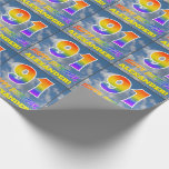 """[ Thumbnail: Rainbow Look """"91"""" & """"Happy Birthday"""", Clouds, Sky Wrapping Paper ]"""