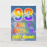 "[ Thumbnail: Rainbow Look ""93"" & ""Happy Birthday"", Clouds, Sky Card ]"