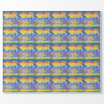 "[ Thumbnail: Rainbow Look ""94"" & ""Happy Birthday"", Clouds, Sky Wrapping Paper ]"