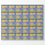"""[ Thumbnail: Rainbow Look """"96"""" & """"Happy Birthday"""", Clouds, Sky Wrapping Paper ]"""