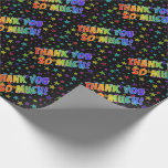 """[ Thumbnail: Rainbow Look """"Thank You So Much!"""", Stars Pattern Wrapping Paper ]"""